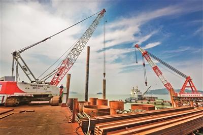 今日玉环数字报刊平台-乐清湾大桥工程全面进入主体