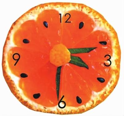 水果钟表简笔画